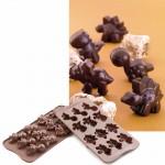 Φόρμα Σιλικόνης για Σοκολατάκια Dino με 12 Θήκες