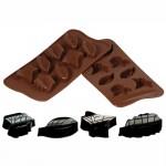 Φόρμα Σιλικόνης για Σοκολατάκια Nature με 8 Θήκες