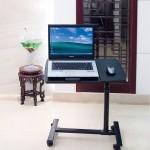 Πτυσσόμενο Πολυχρηστικό Τραπεζάκι - Γραφείο Υπολογιστή με Κομψό Σχεδιασμό, Ρυθμιζόμενο Ύψος και Ειδική Αντιολισθητική Βάση