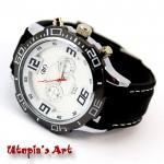 Ανδρικό ρολόι με λουράκι από καουτσούκ & καντράν 50mm Utopia s Art