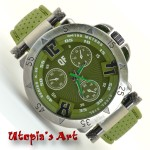 Ανδρικό ρολόι με λουράκι από σιλικόνη & καντράν 49mm Utopia s Art