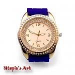Γυναικείο ρολόι με λουράκι σιλικόνης και καντράν 41mm Utopia's Art