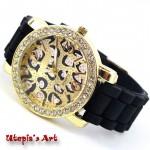 Γυναικείο ρολόι με λουράκι σιλικόνης και καντράν 42mm Utopia's Art