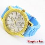 Γυναικείο ρολόι με λουράκι σιλικόνης και καντράν 43mm Utopia's Art