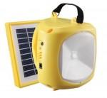 Ηλιακός Επαναφορτιζόμενος Φακός - Προβολέας - USB Φορτιστής Κινητών