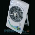 Φορητός Επαναφορτιζόμενος Ανεμιστήρας Box Fan 15εκ με Φωτιστικό Led