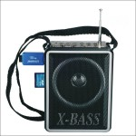 Φορητό Επαναφορτιζόμενο USB/SD Mp3 Player - FM Radio με Ηχείο WAXIBA 915