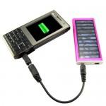 Ηλιακός Φορτιστής Battery Pack για Κινητά, MP3 Player - Solar Power Charger