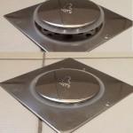 Ανοξείδωτο Στεγανό Σιφόνι Μπάνιου Τύπου Pop Up - Ταψάκι 12,5x12,5cm με Σιφόνι 8,5cm
