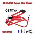Ισχυρή Τρόμπα Αέρος Ποδιού με Μανόμετρο 100 psi - 7 bar SHARK SY-920 Μεταλλική