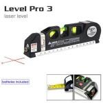 Μέτρο - Αλφάδι με λέιζερ γραμμή οριζόντια / κάθετη και σταυρό - LevelPro3 Laser