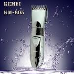 Επαναφορτιζόμενη Αδιάβροχη Κουρευτική Μηχανή Kemei KM-605
