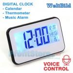 Ψηφιακό Ρολόι - Θερμόμετρο με Αισθητήρα Ήχου WELTBILD-2618