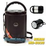 Φορητό Επαναφορτιζόμενο Mp3 Player, Speaker, FM Radio με Ηχείο 1.5W & Φακός LED KEMAI 603U