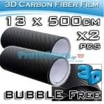 Διακοσμητικές Αυτοκόλλητες Ταινίες 3D CARBON - Σετ 2 Ρολών 13X500cm