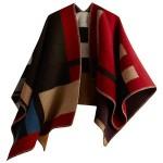 Πολύχρωμο Πόντσο σε Γήινα Χρώματα - Blanket Coat