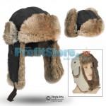 Αδιάβροχο Ζεστό Καπέλο - Σκούφος με Γούνα - Rabbit Fur Aviator Hat