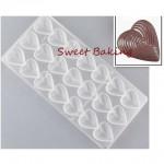 Φόρμα για Σοκολατάκια με 21 Θήκες σε Σχήμα Καρδιάς