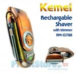 Επαναφορτιζόμενη Ξυριστική Μηχανή Πολυτελείας KEMEI Q788A
