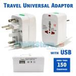 Ταξιδιωτικός Αντάπτορας Πρίζας Universal Travel Adaptor με Προστασία & Θύρα USB