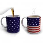 Κούπα που Αλλάζει Χρώμα με την Θερμοκρασία - Αμερικάνικη Σημαία