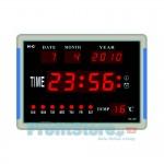 Μεγάλο Ρολόι LED με ένδειξη Ημέρας, Ημερομηνίας, Ώρας και Θερμοκρασίας