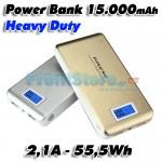 Heavy Duty Power Bank 15.000mAh - 55,5Wh - 2,1A - Μπαταρία Φορτιστής Υψηλής Ισχύος  iPower