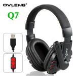 Ακουστικά με Μικρόφωνο USB Super Bass Multimedia Headset - OVLENG Q7