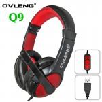 Ακουστικά με Μικρόφωνο USB Super Bass Multimedia Headset - OVLENG Q9