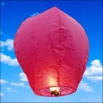 Ιπτάμενα Παραδοσιακά Κινέζικα Φανάρια σε Ροζ Χρώμα