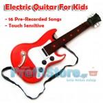 Ηλεκτρική Παιδική Κιθάρα Αφής με 16 Τραγούδια - Παίζει με το Άγγιγμα των Χορδών