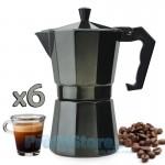 Καφετιέρα Αλουμινίου Espresso για 6 Φλιτζάνια - Charcoal