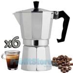 Καφετιέρα Αλουμινίου Espresso για 6 Φλιτζάνια - Silver