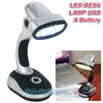 Φωτιστικό LED Γραφείου και Υπολογιστή USB & Μπαταρίας - Led Pivot Lamp