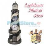 Εντυπωσιακό Επιτραπέζιο Ρολόι Παραδοσιακός Φάρος - Μουσικό Κουτί