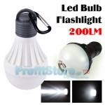 Φακός LED 2 σε 1 Υψηλής Φωτεινότητας 200LM σε Σχήμα Λυχνίας