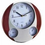 Ρολόι Τοίχου 32 cm με Υγρόμετρο και Θερμόμετρο Oscar 7948