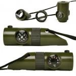 Σφυρίχτρα Επιβίωσης με Φακό LED, Πυξίδα, Θερμόμετρο, Μεγεθυντικό Φακό & Καθρέπτη