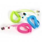 Σπιράλ Καλώδιο USB Φόρτισης & DATA για Smartphone & iPhone 4-5-6