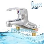 Αναμεικτική Mπαταρία Μπάνιου - Νιπτήρος, 2 οπών - Faucet Sanit