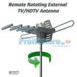 Τηλεχειριζόμενη Περιστρεφόμενη Εξωτερική Κεραία Τηλεόρασης TV/HDTV 35db