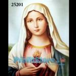 Πίνακας Ζωγραφικής Φωτιζόμενος με LED & Εφέ αληθινής φλόγας Παναγία Sacred Heart