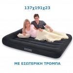 Φουσκωτό Στρώμα Ύπνου 137x191x23εκ Pillow Rest Classic Bed INTEX