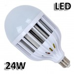 Λάμπα Γίγας LED E27 24W με Ψήκτρα από Κράμα Αλουμινίου - Ψυχρό Φως