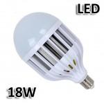 Λάμπα Γίγας LED E27 18W με Ψήκτρα από Κράμα Αλουμινίου - Ψυχρό Φως