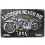 Διακοσμητική Μεταλλική Πινακίδα (20Χ30cm) Legends Never Die