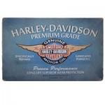 Διακοσμητική Μεταλλική Πινακίδα (20Χ30cm) Harley Davidson (blue)