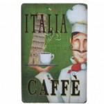 Διακοσμητική Μεταλλική Πινακίδα (20Χ30cm) Italia Caffè