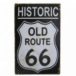 Διακοσμητική Μεταλλική Πινακίδα (20Χ30cm) Old Route 66