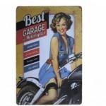 Διακοσμητική Μεταλλική Πινακίδα (20Χ30cm) Best Garage